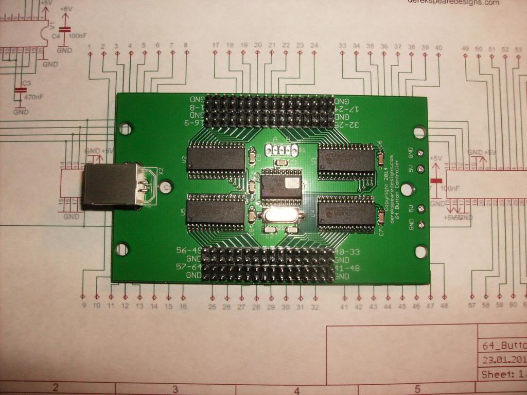 64 button no matrix controller derek speare designs